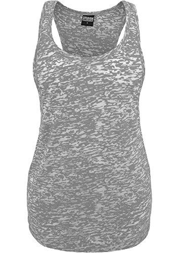 Ladies Melange Burnout Loose Tank grey XL