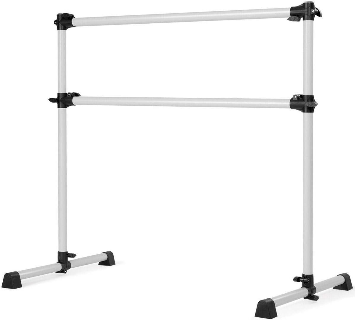 ABORON 4x4ft Ballet Barre Portable Freestanding Double Ballet Barre Adjustable Dancing Stretching Ballet for Home,Dance Barre, Fitness Ballet Bar