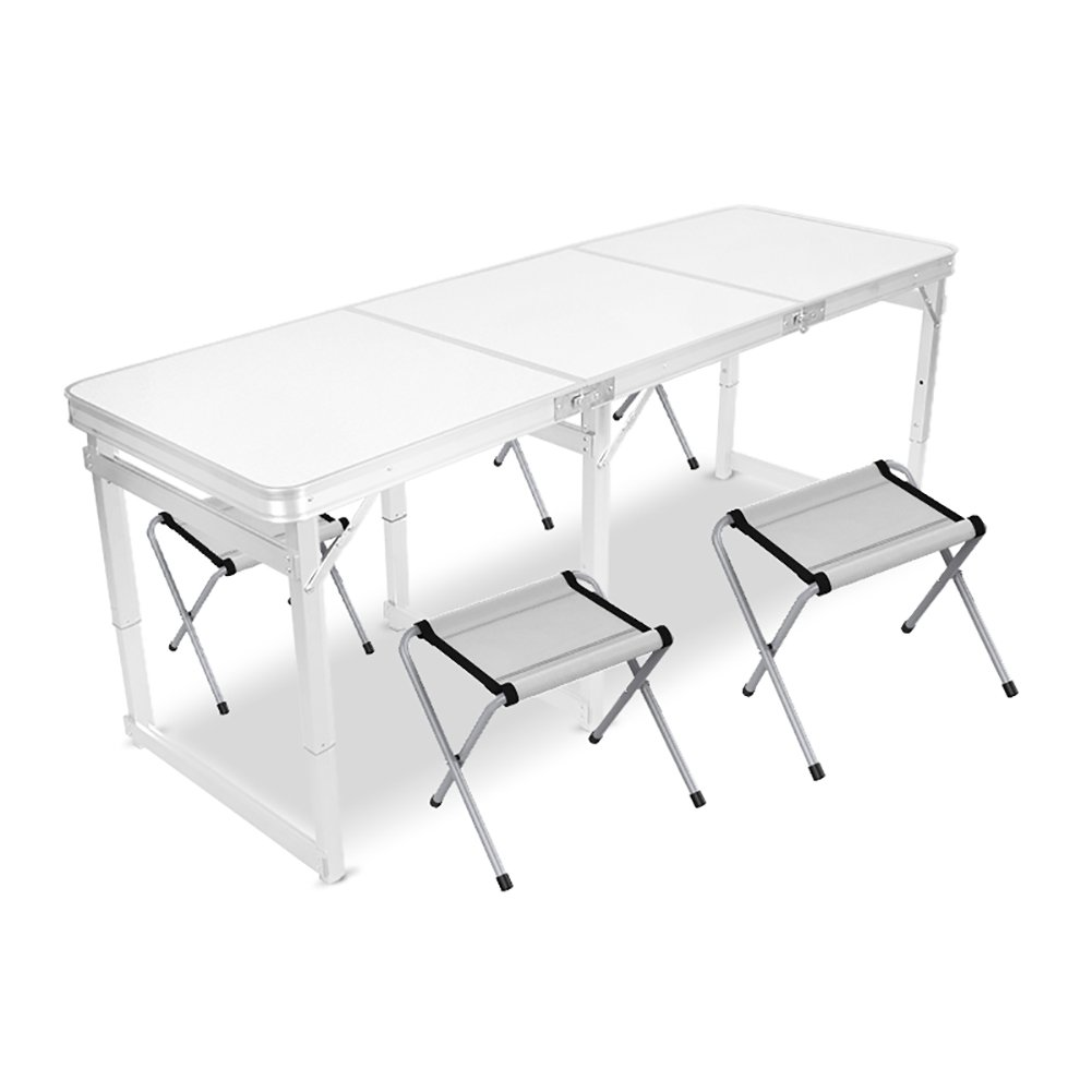 2f690e24c3d4 Amazon.com: TY BEI Wooden Square Folding Table - Chair 6 Feet with ...