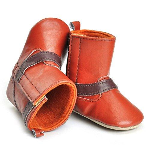 Clode® Kleinkind Neugeborene Baby Girl Krippe Stiefel Weiche Sole Stiefel Prewalker Warm Schuhe Braun