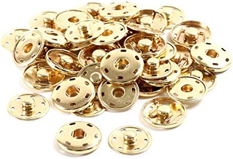 Metal Snap Fastener Spring Press Studs Popper Button Sew on Sewing Rivet Craft
