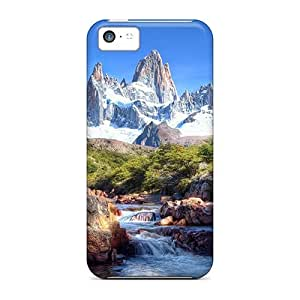 DaMMeke IdZCPXo2923GfhWy Case Cover Iphone 5c Protective Case Mountain And River