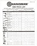 MARKSMAN PRODUCTS 1986 PRICE LIST: Air Guns, Ammo, Targets, Slingshots and Shooting Accessories