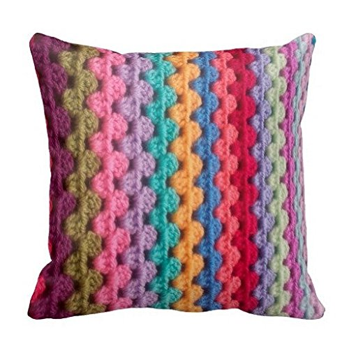 Natasha Regina Attic Granny Stripe Colourssofa Pillow Covers 16X16 (Granny Stripe)