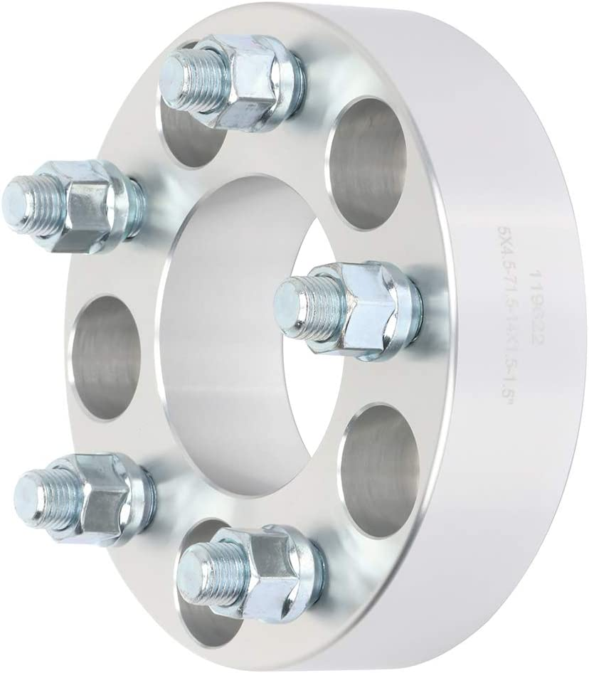 ANGLEWIDE 4X 1.5 5x4.5 14x1.5 71.5 Wheel Spacers Adapters 5 Lug fit for Dodge Magnum for Dodge Charger