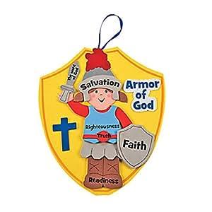 Fun Express Armor of God Kids Craft Kit (1 Dozen)