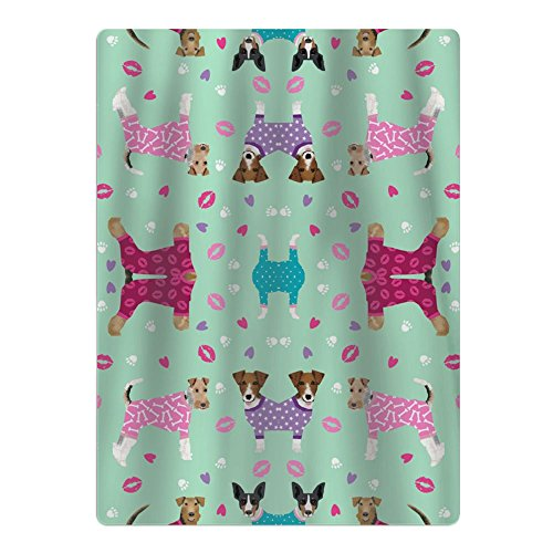 UHUDGOP75 Dogs in Clothes Cute Rat Terrier, Jack Russell Terrier, Welsh Terrier, Wire Fox Terrier Wallpaper Beach Towels Cabana Towels Surf Towels Perfect for Travel,Yoga,Gym 65