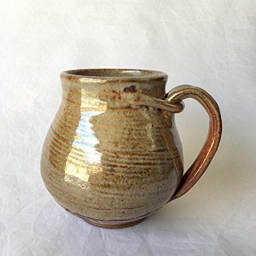 Goldish Orange Coffee Mug, Ceramic Coffee Mug, Wheel Thrown Mug GONJUL17M7 17 OZ