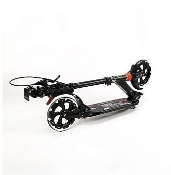 Patinetes Scooter Plegable Negro con Freno Doble para Adulto ...
