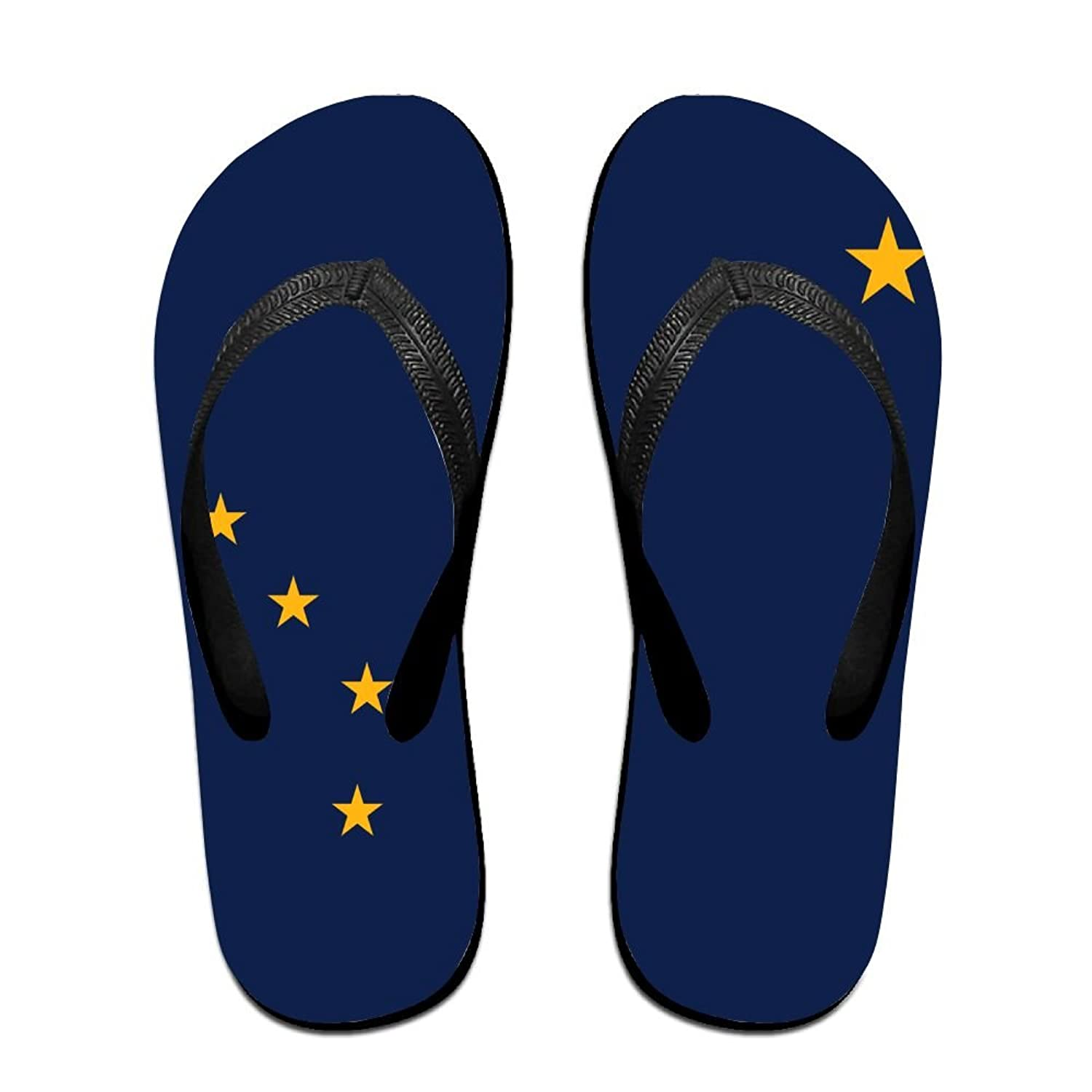 Flag Of Alaska Cool Flip Flops For Children Adults Men And Women Beach Sandals Pool Party Slippers