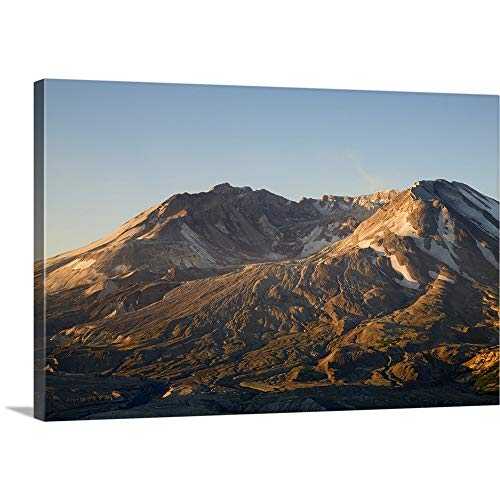 Jamie and Judy Wild Premium Thick-Wrap Canvas Wall Art Print Entitled Mt. St. Helens Crater with Lava Dome, View from Johnston Ridge 18