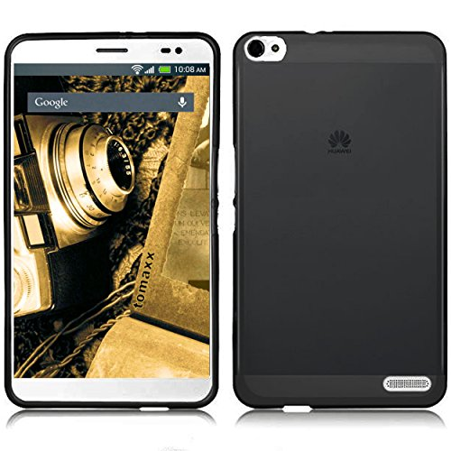 tomaxx Hülle Huawei Mediapad X2 Tablet-PC Schutzhülle Tasche transparent schwarz