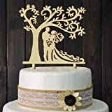 Wedding Cake Toppers Bride and Groom Silhouette Tree Wedding Cake Topper Rustic Wood