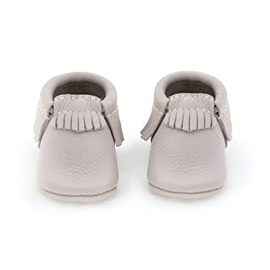 f042e40500208 Amazon.com | Freshly Picked Soft Sole Leather Baby Moccasins Pebble ...