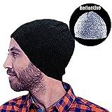 Vakabva Reflective Beanie Hat Enhanced Visibility Cold Weather Running Beanie Cap One Size