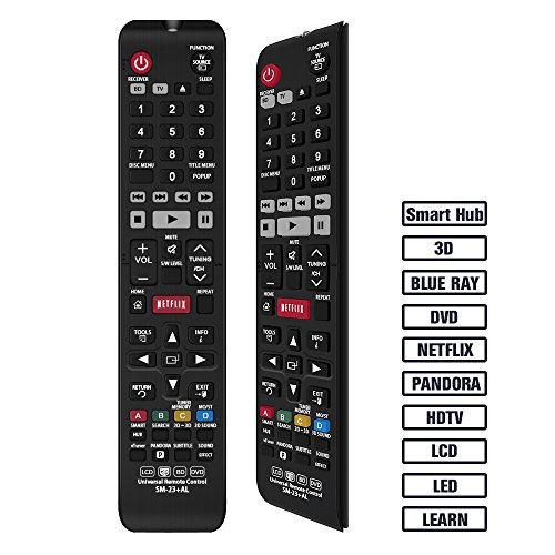 Gvirtue Universal Remote Control Compatible Replacement for Samsung TV/ 3D/ 3D Sound/ LCD/ LED/ BD/ HDTV/ Smart TV, AA59-00666A BN59-01178W BN59-01199F AA59-00637A AA59-00594A AA59-00600A AA59-00582A