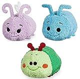 "Disney Store Mini Tsum Tsum A Bug's Life Set of 3 Plush 3.5"" Stuffed Toys Flik Dot Heimlich"