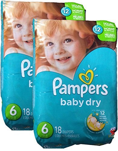 Price comparison product image Pampers Baby Dry Diapers - Size 6 - 36 ct