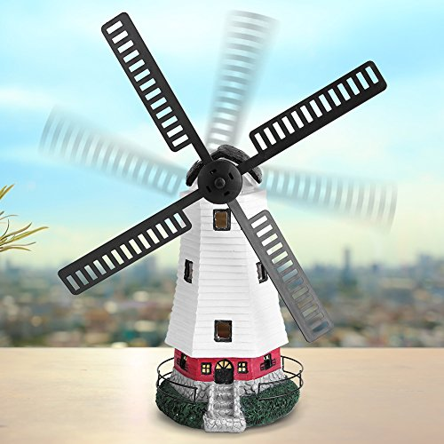 - Estink Windmill Light,Decorative Solar Powered Rechargable LED Windmill Light Lamp for Outdoor Lawn and Garden D¨¦cor, Lawn Ornament