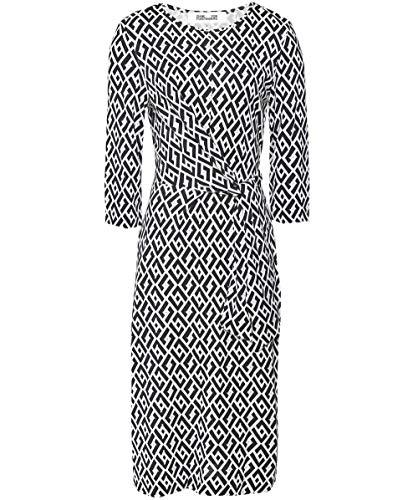Diane von Furstenberg Women's Silk Pearl Jersey Knee Length Dress Multi Coloured L Diane Von Furstenberg Silk Jersey