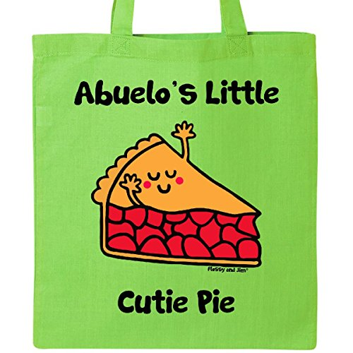 Inktastic - Abuelo's little Cutie Pie Tote Bag Lime Green - Flossy And Jim