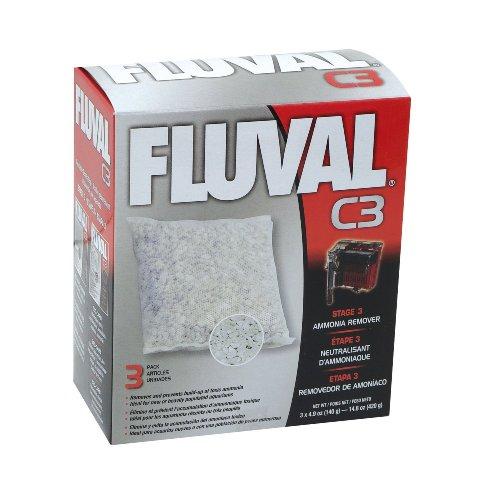 Fluval C3 Ammonia Remover - 3-Pack (Hagen Fluval Ammonia Remover)