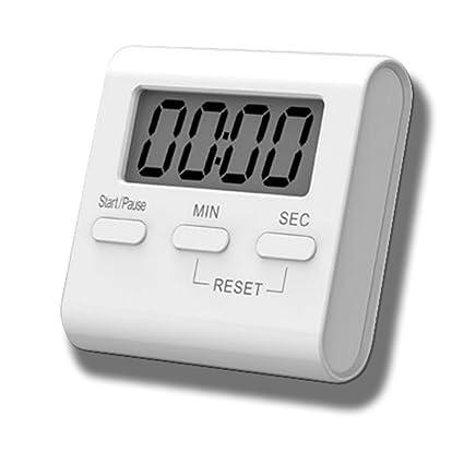 Saytay Temporizador de Cocina, Cocina Temporizador Digital LCD Pantalla Cuenta atrás 99 Minutos Cocina Reloj