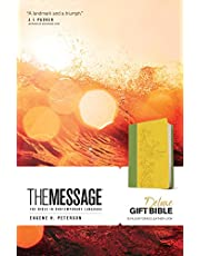 The Message Deluxe Gift Bible (Leather-Look, Sunlight/Grass): The Bible in Contemporary Language