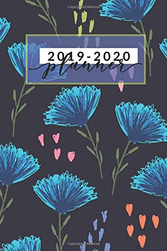 "2019  2020 Planner  Blue Floral Weekly And Monthly Schedule Diary August 2019 To July 2020 Timetable   6""x9"" Small Notebook With Quotes  School Supplies Band 3"