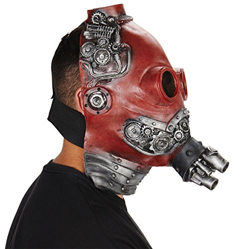 Red Steampunk Adult Mask (Cosplay Steampunk Costumes)