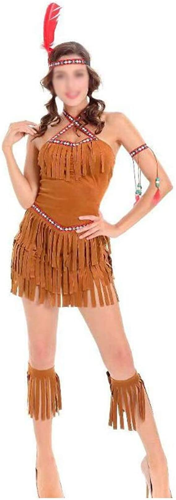 NO BRAND De Halloween Disfraces de Halloween for mujer tribu india ...