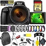 Nikon COOLPIX P1000 Digital Camera + 64GB Memory Card Professional Kit International Model
