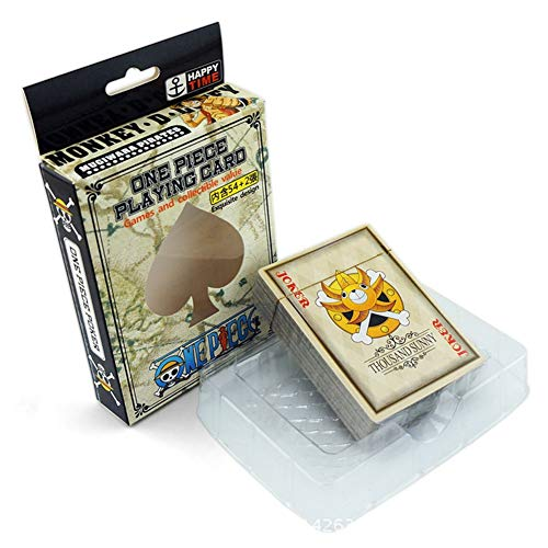 (Raleighsee One Piece Anime Around Monkey D. Luffyy Tony Tony Chopper Nami oronoa Zoro Playing Cards Board Game Card Hot Gift for Anime Fans)