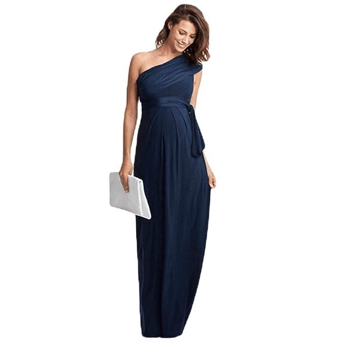 4c141ddd7f5a Binhee Estate Donna Incinta Senza Maniche Marea Elegante Lungo Maxi Abbigliamento  Premaman  Amazon.it  Abbigliamento