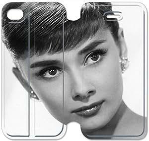 iphone 4 4s Flip Leather Phone Case Audrey Hepburn TY1OR3233463