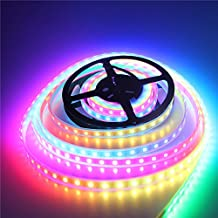 ALITOVE 16.4ft WS2812B WS2811 Dream color 5050 RGB Addressable LED Flexible Strip Light 5m 300 Pixels DC 5V White PCB Waterproof IP67