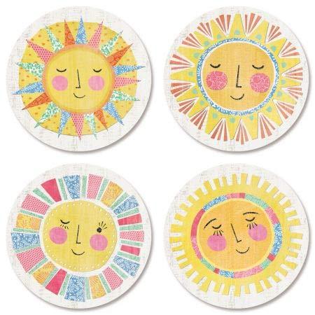 Hello Sunshine Stickers- Set of 144 Round Evelope -