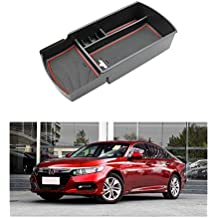 R RUIYA 2018 Honda Accord Car Accessory Center Console Organizer Tray Armrest Storage Box Compatible LX Sport EX EX-L Touring EX-L (Red)