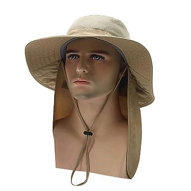 salida online vende especial para zapato Sombrero para Sol De ala Ancha con Cuello Protector Solapa ...