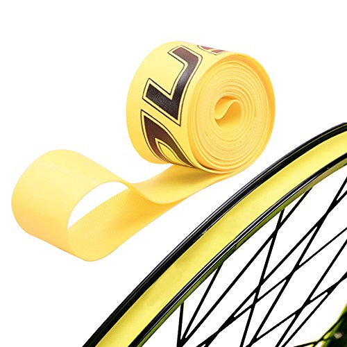 Firwood 1 Pair PVC Tire Tyre Liner Inner Tube Protector Rim Strips for Mountain Bike Bicycle Fixed Gear Bike MTB Yellow