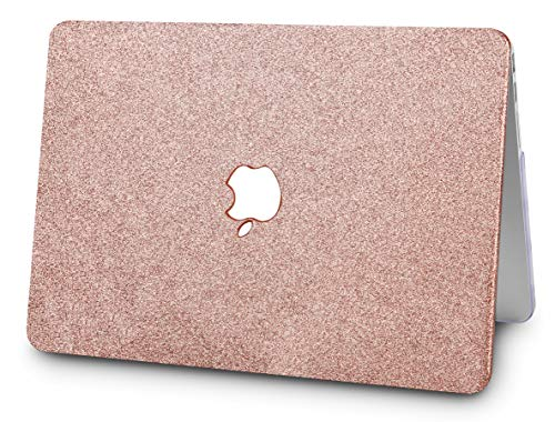"KECC Laptop Case for MacBook Air 13"" w/Keyboard Cover Plastic Hard Shell + Webcam Cover A1466/A1369 3 in 1 Bundle (Rose Gold Sparkling)"
