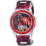 Disney Quartz Watch with Plastic Strap, Black, 20.7 (Model: JRW4026)