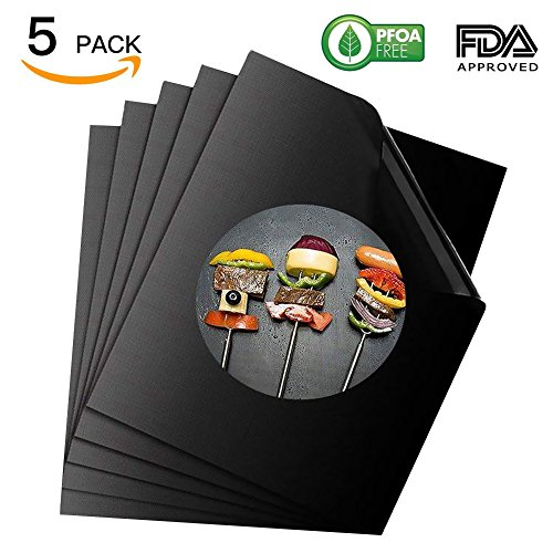Buy Discount LEMONOO Professional Grill Mat of -5 pack, NON-stick BBQ Grilling Mats – Heavy Duty,FDA-Approved,PFOA Free,Reusable and Easy to Clean of Grill Accessories (15.75 x 13 Inch)
