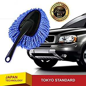 JapanX - Car Brushes Duster - Mini Wax Brush Car Duster - The Best Microfiber Multipurpose Car Duster - Car and Home Interior Use - Professional Car Brushes Tool - Lint Free - Brushes Comfort Handle