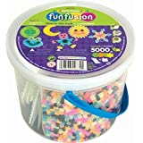Perler Fun Fusion Fuse Bead Bucket, Glow in The Dark