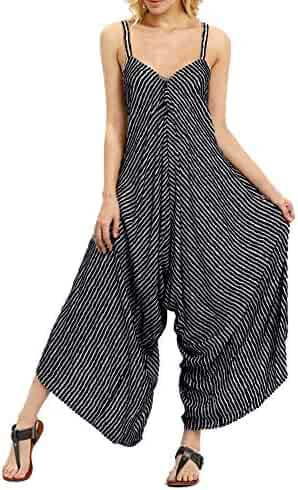 7bbd1628b Karoleda_Women Pants Jumpsuit for Women Fashion Strappy V Neck Bandage  Loose Playsuit Party Club wear Jumpsuit