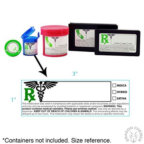 California Medical Marijuana Strain Labels (Updated A.B. 266) 1,000pc Roll Photo #2