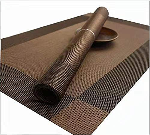 SAYGOGO Simple Table Mat Non-Slip Table Mat, Insulation Pads, Teslin Mat, Diagonal Frame, Interwoven, Environmentally Friendly, Washable Table Mat, 18X12 (Pack of 100) ()