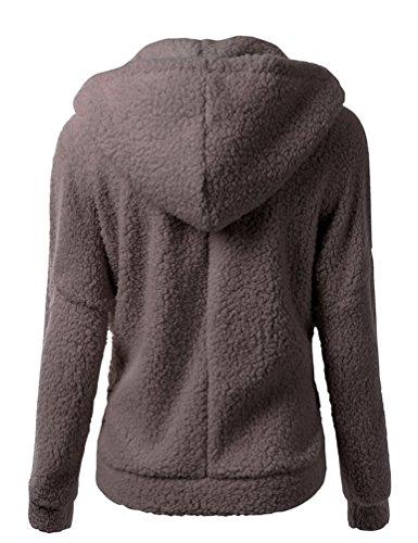 WanYang Chaqueta Con Capucha Mujeres Hooded Sweatshirt Sportswear Manga Larga Capucha Cazadora Jacket Top Marrón