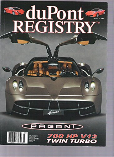 Dupont Registry Magazine (Pagani, March 2011)